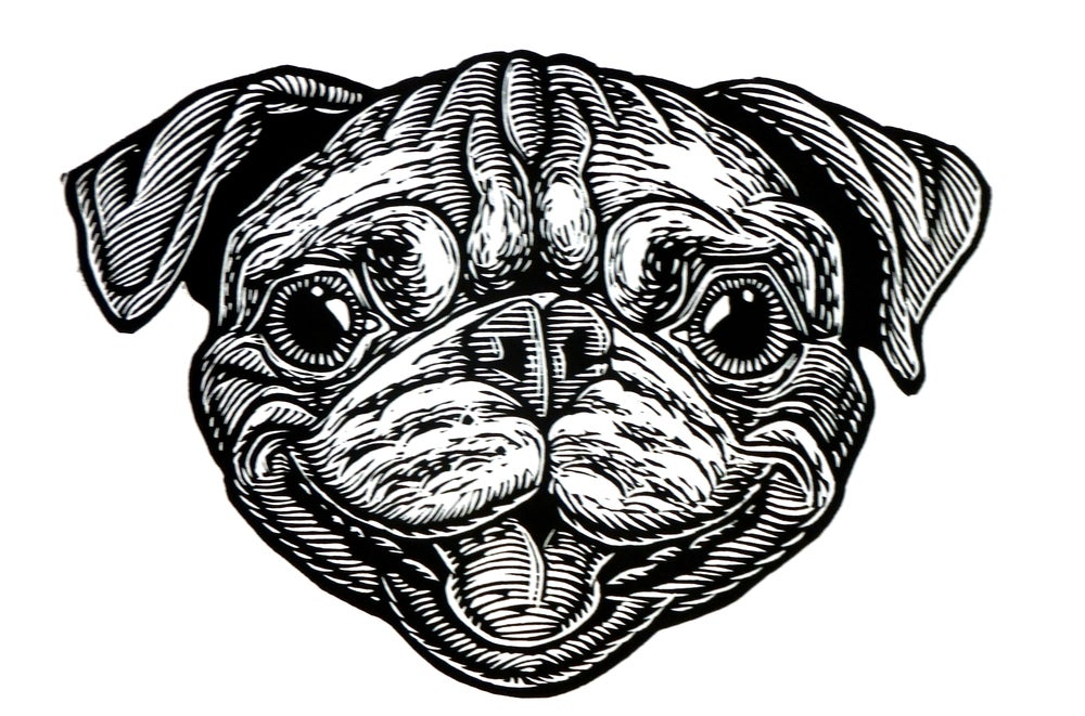 Bob the Pug Head T-shirt (A1) **FREE SHIPPING**