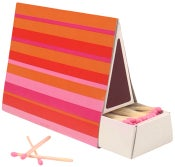 Image of 50 pack Tent Matches  • Pink Stripe