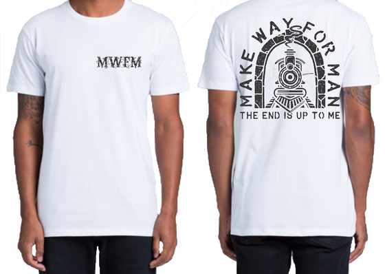 Image of Make Way For Man - Train shirt white