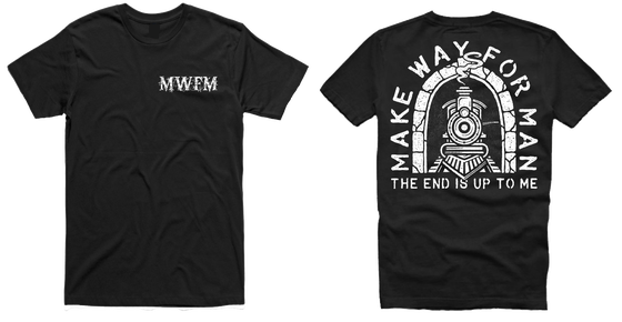 Image of Make Way For Man -Train shirt black
