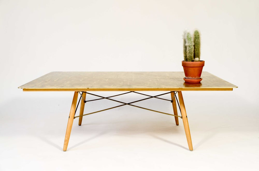 Image of Eames House Anniversary Gold Leaf Table No 455 of 500 Herman Miller Vitra