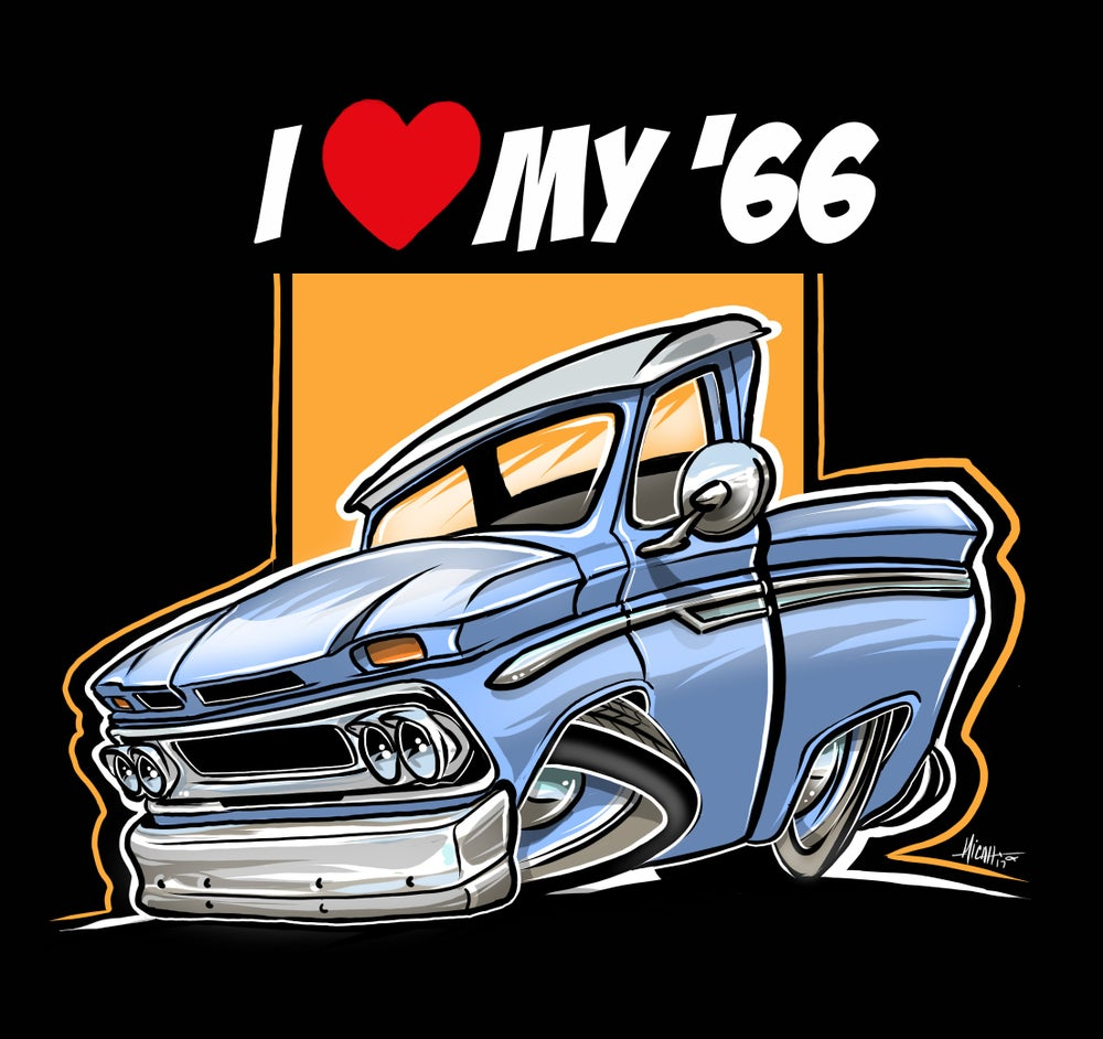 Image of I love my 66 C10 (light blue)