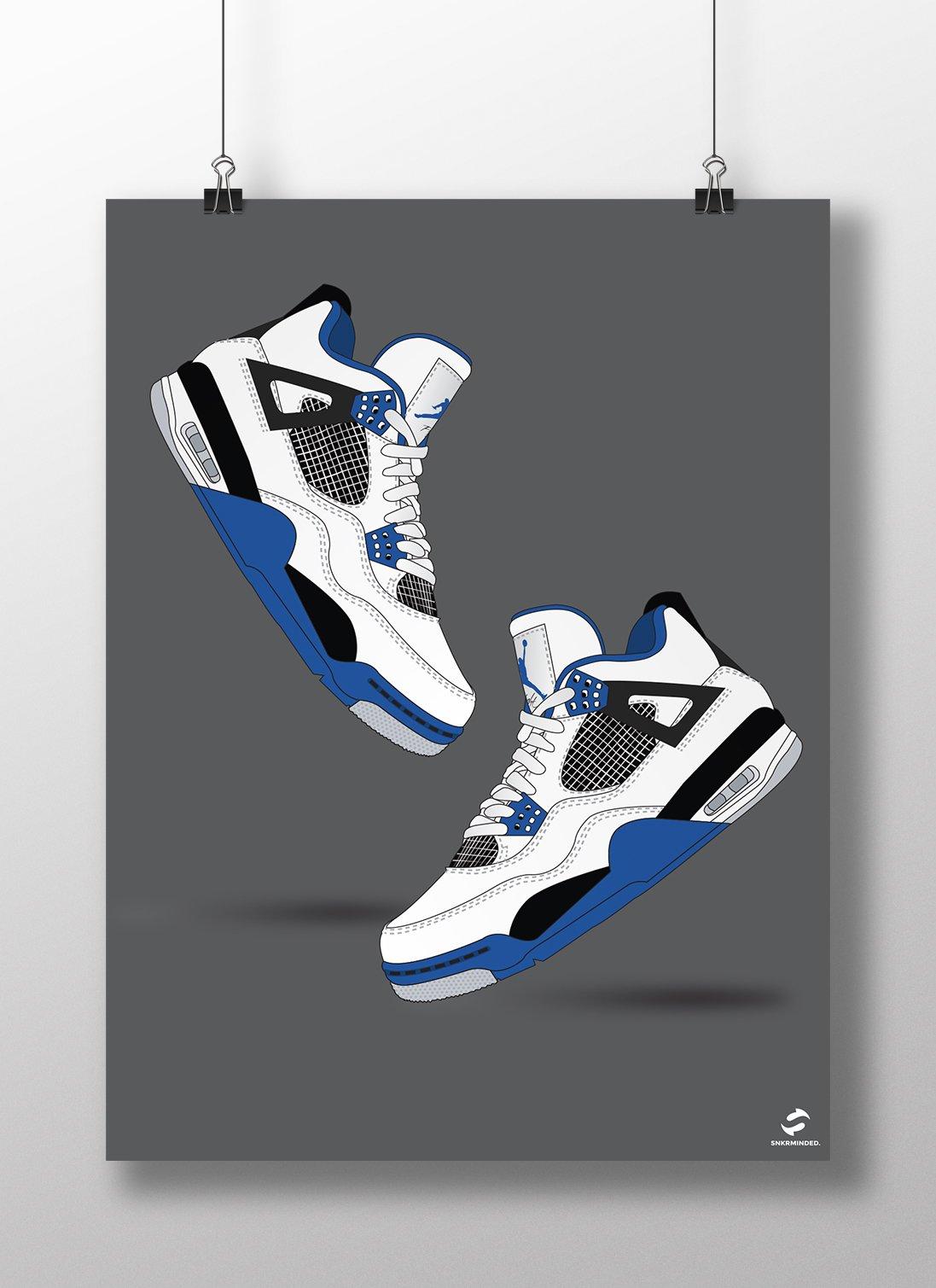 Air Jordan 4 Motorsport Poster | SNKRMinded.