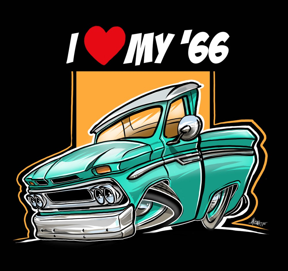 Image of I love my 66 (turquoise)