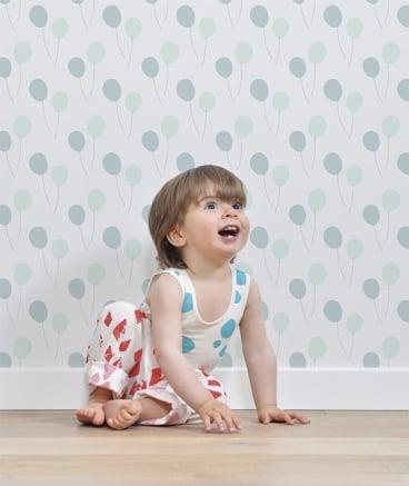 Image of Papel pintado Globos Azul Infantil
