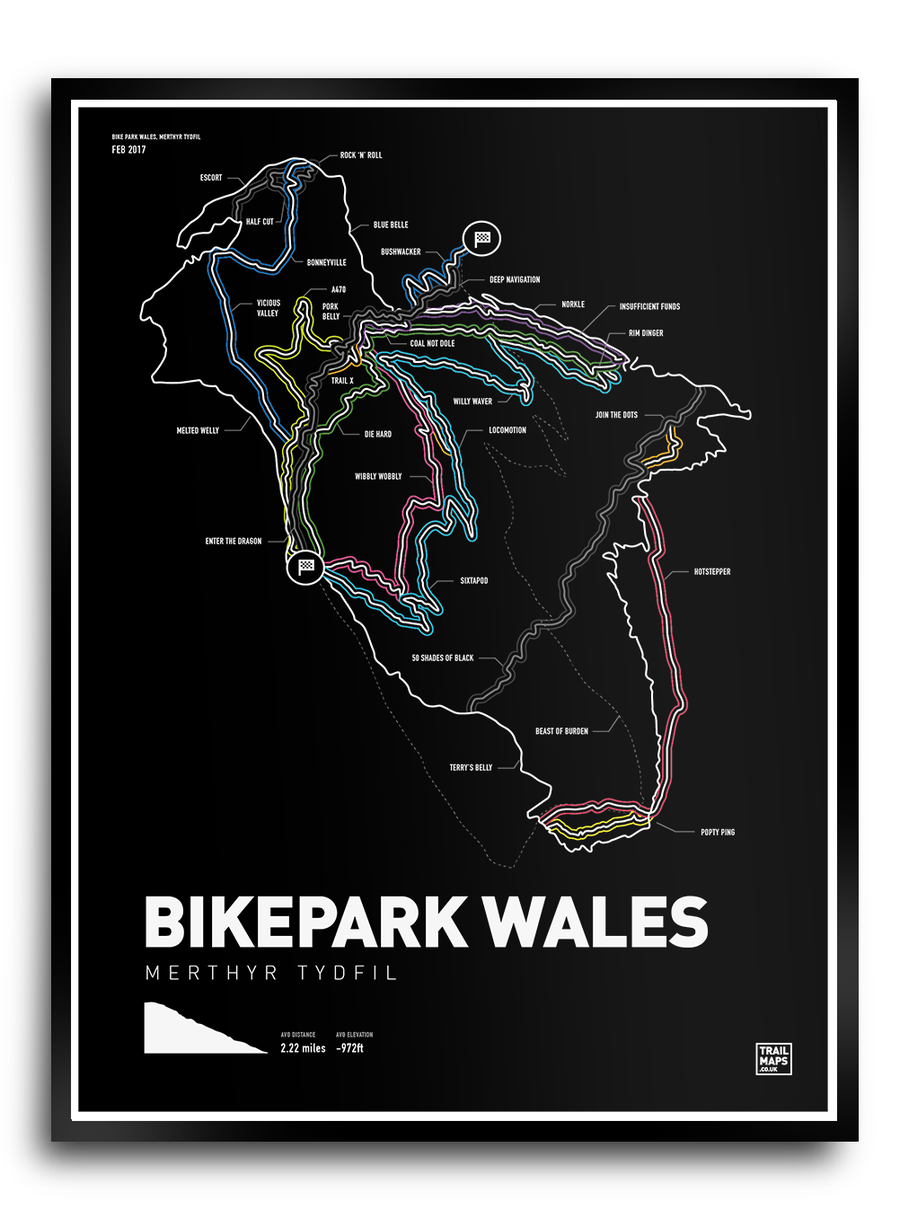 Image of Bike Park Wales Art Print