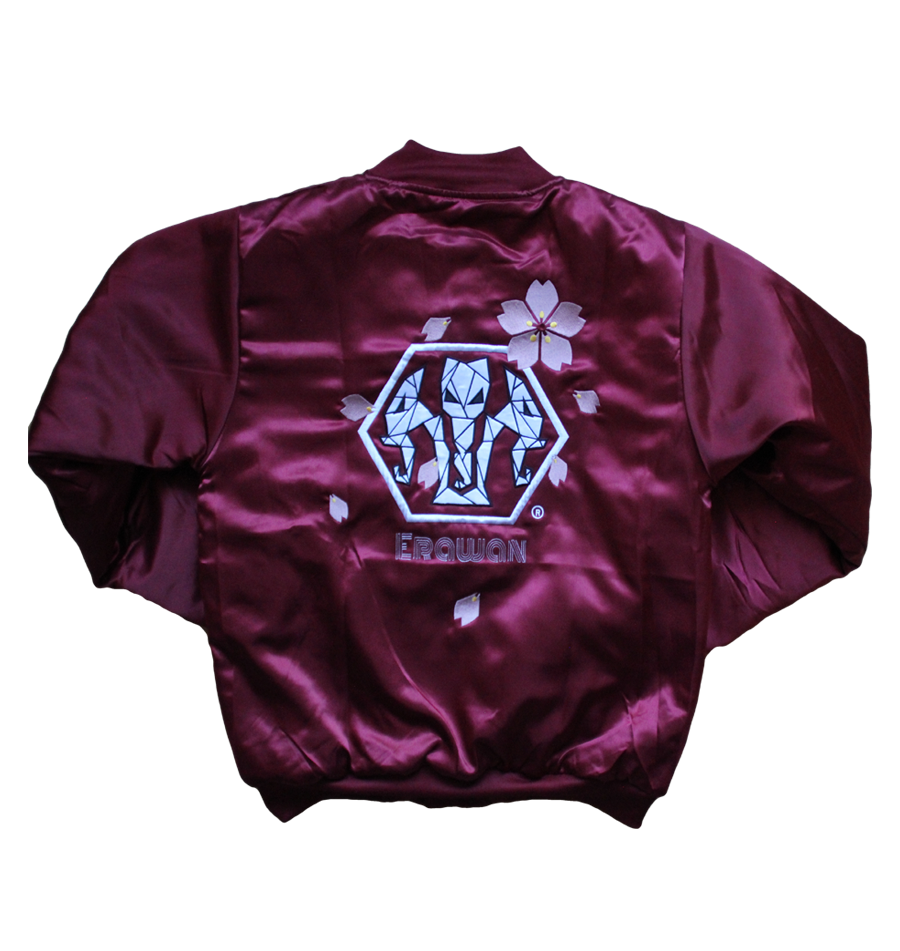 Image of ERAWAN Bomber Hanami Burgundy | Edition Limited |