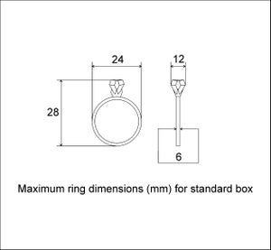 Image of Ring box - original Woodstorming design ring holder with black pillow