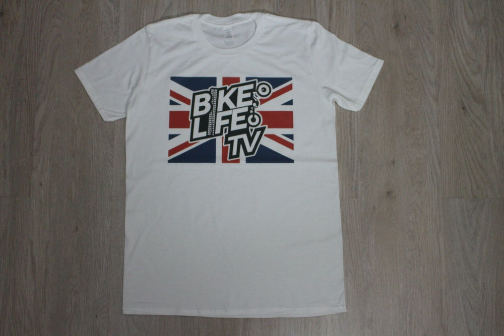 Image of Union Jack BikeLife TV T-Shirt