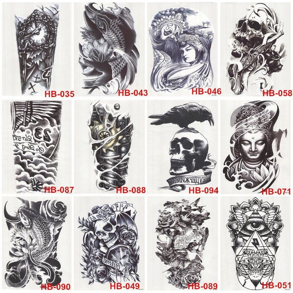 Image of Half Sleeve inkSlap Temporary Tattoo