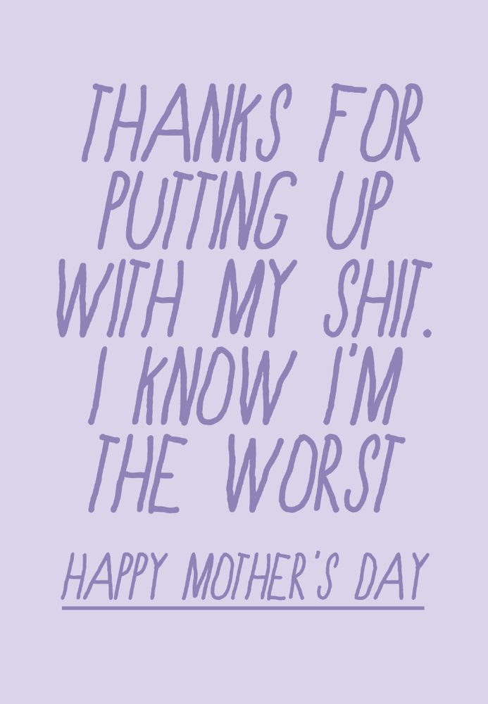 Image of mother's day - shit
