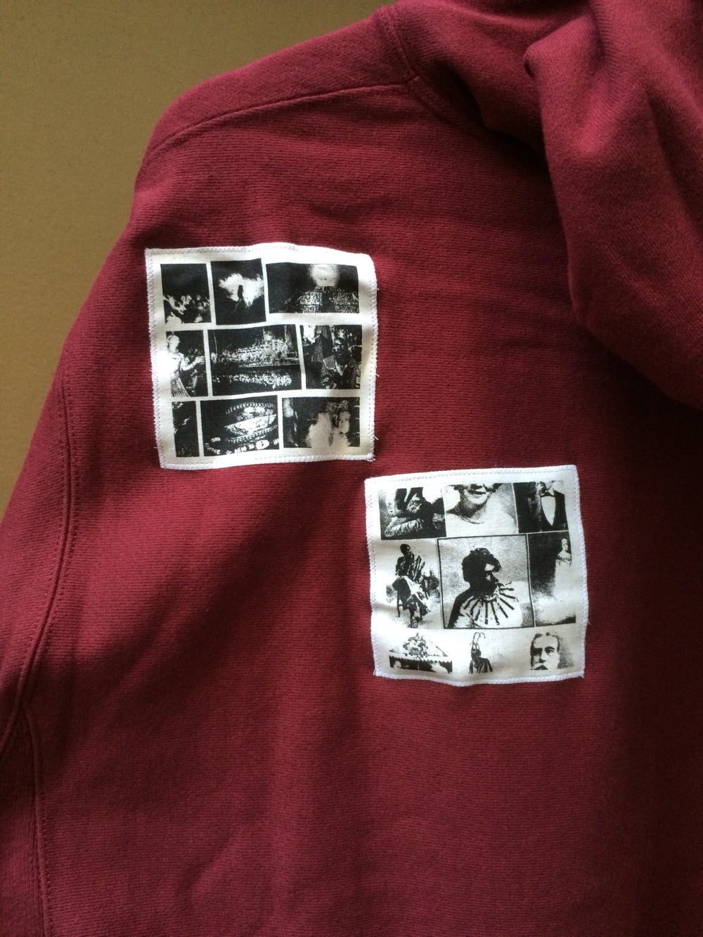 Image of East Side Powerviolence 'Algorid' Hoodie (Burgundy)