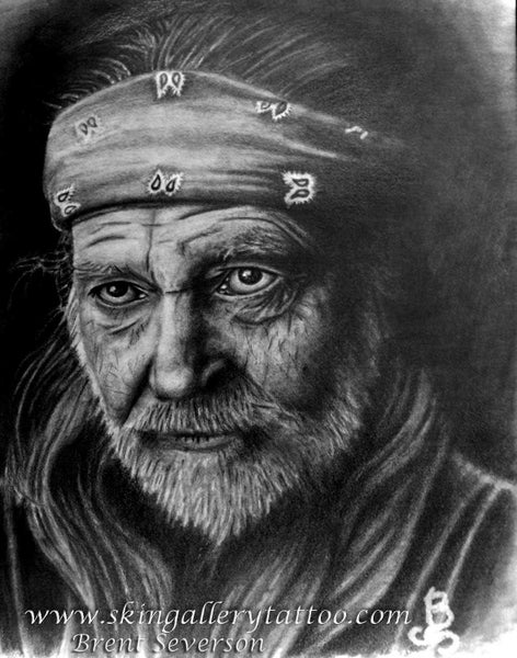 "Image of Willie Nelson Portrait 11""x14"""