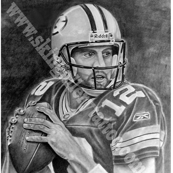 "Image of Aaron Rodgers 11""x14"" portrait Print"
