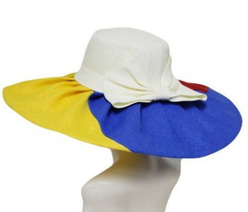 Image of Lacy Multi Colored Floppy Hat