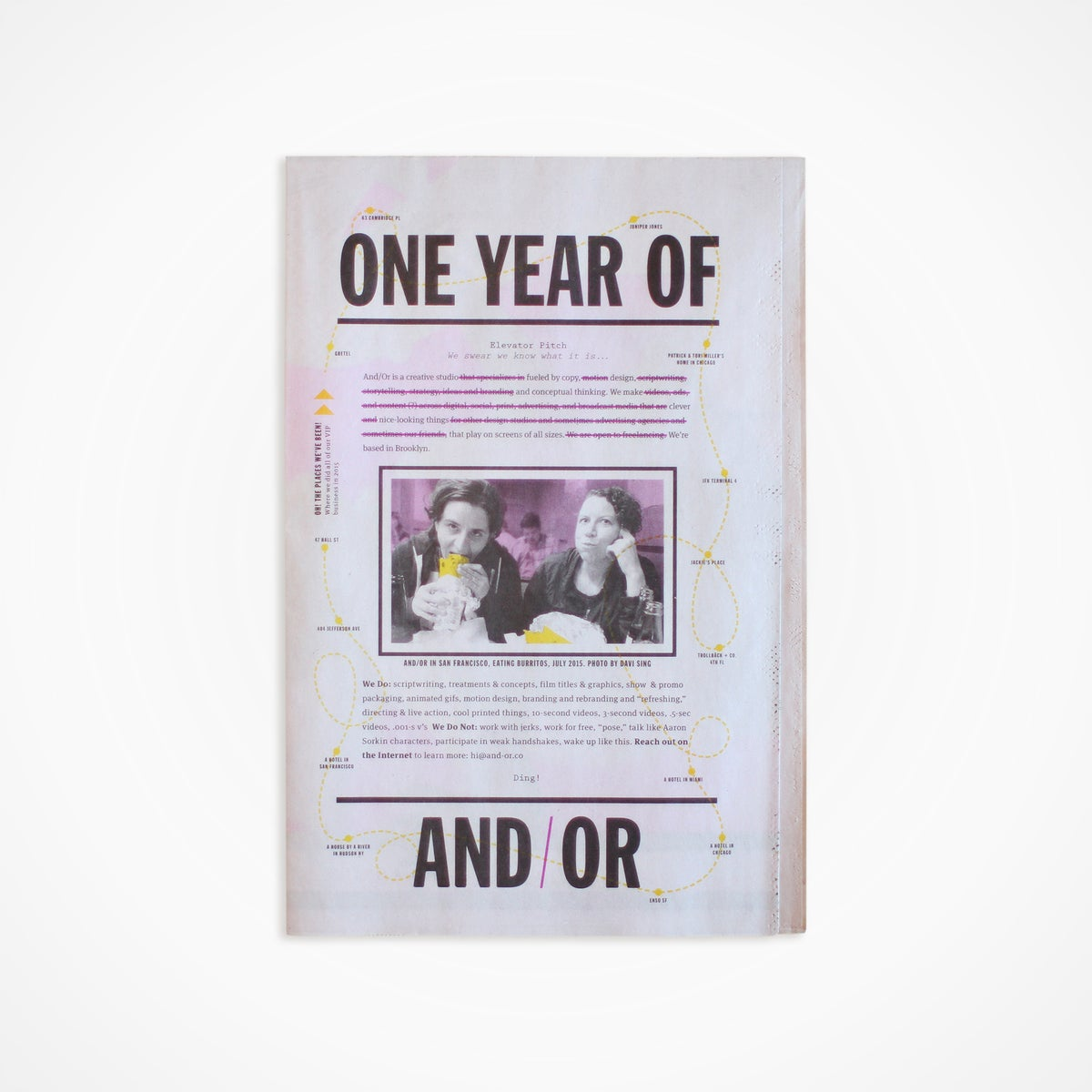 Image of And/Or One Year Newsletter