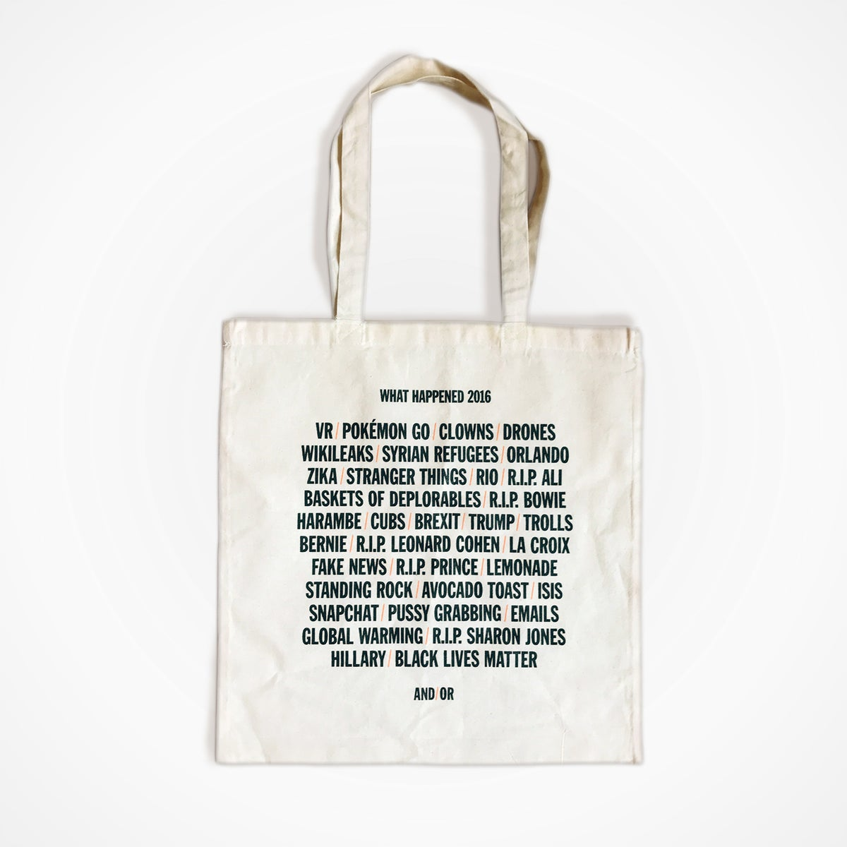 Image of What Happend: 2016 Tote
