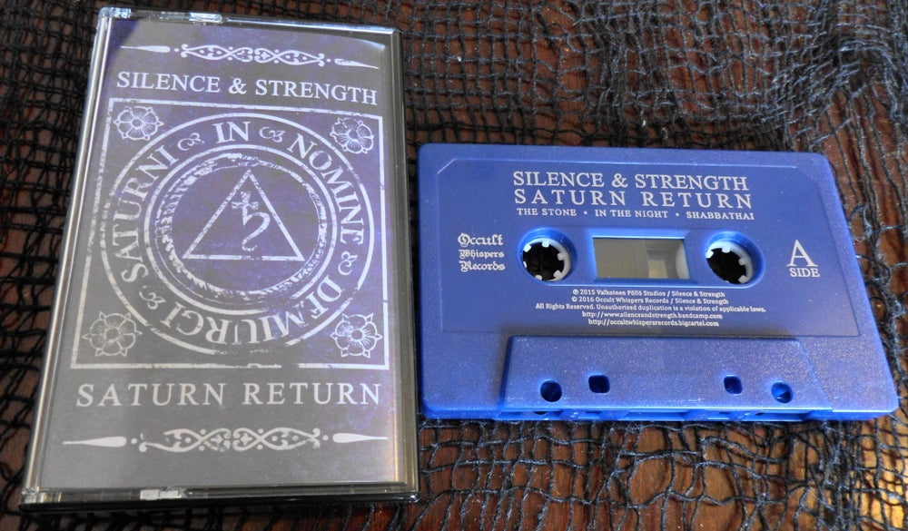 """Image of Silence and Strength """"Saturn Return"""" cassette"""