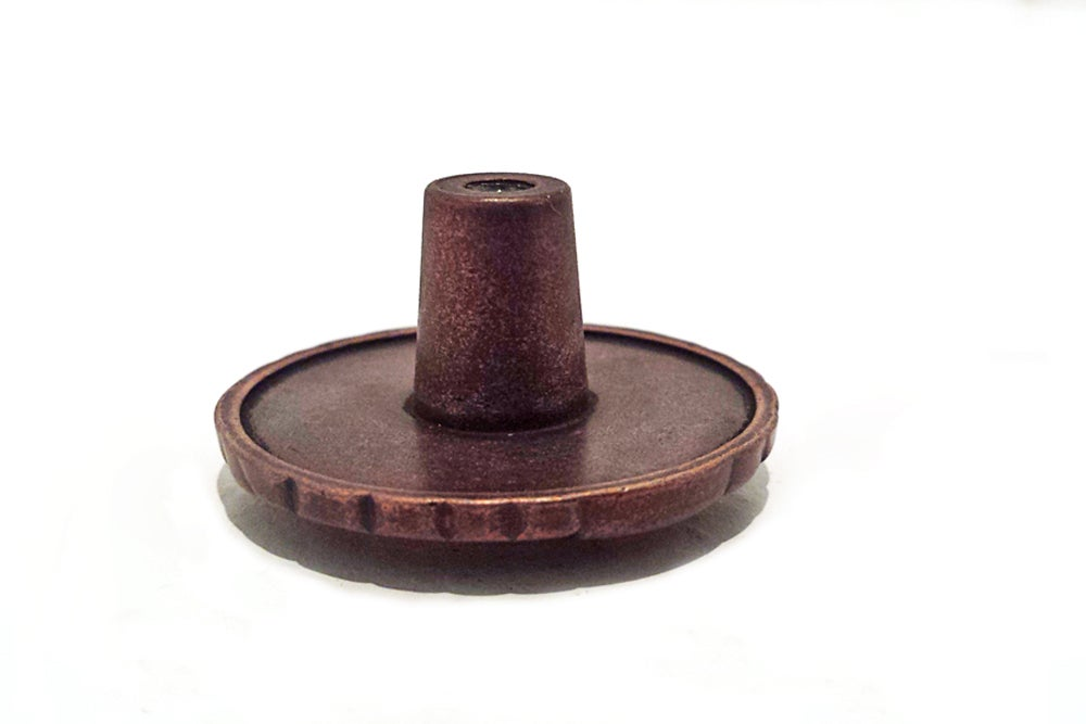 Image of Antique Copper Drawer Pull Knob  for Household Decor with Brass 12 gauge Shotgun Shell Accent