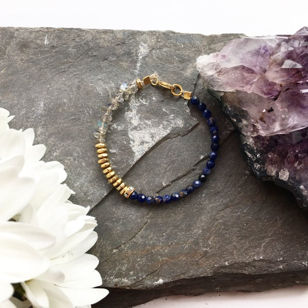 Image of Wish Bracelet - Labradorite + Sodalite - SOLD