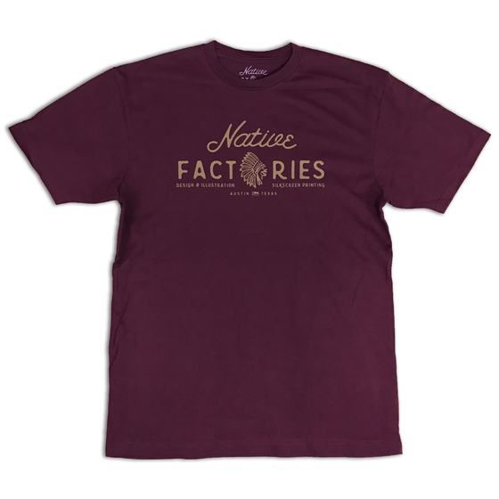 Image of NATIVE MAROON LOGO TEE