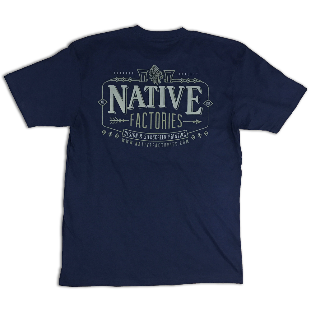 Image of NATIVE Navy Vintage Logo Tee