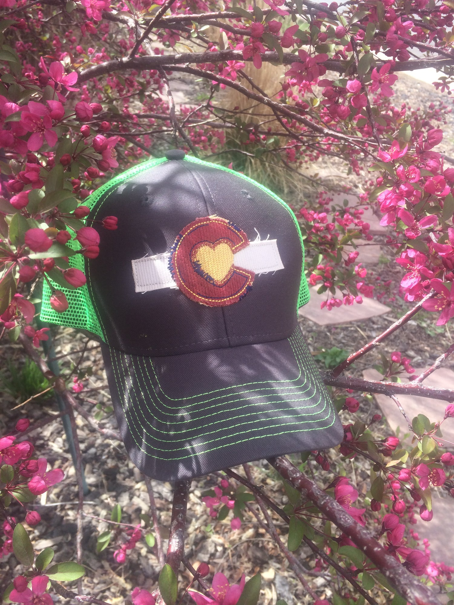 Image of Colorado Love Trucker Hat- Neon Green