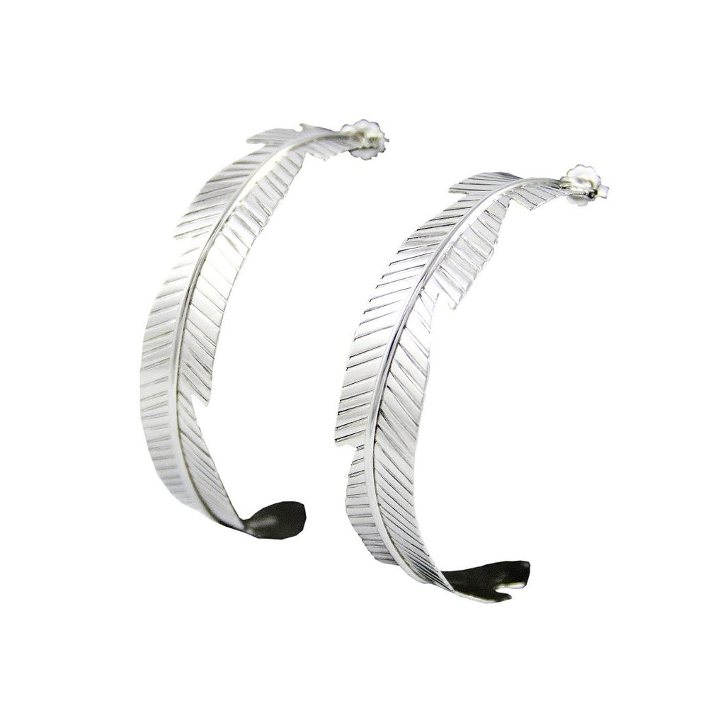 Image of Feather Hoop Earrings