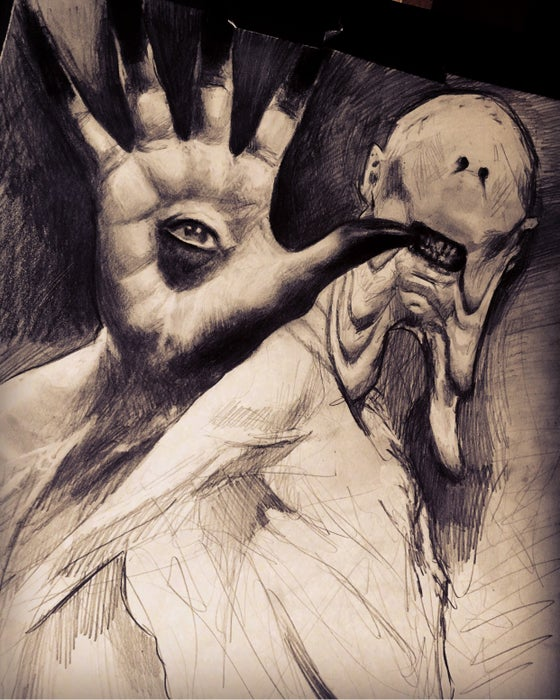 Image of 'THE PALE MAN' - Original Artwork - Graphite on paper