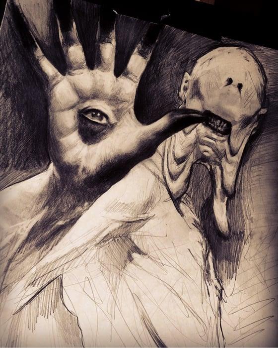 Image of 'THE PALE MAN' - Original Artwork - Graphite on paper