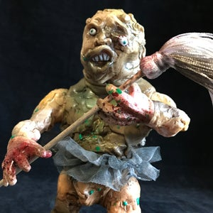 """Image of """"Mad Mop Monster"""" Toxie Custom Coolie High"""
