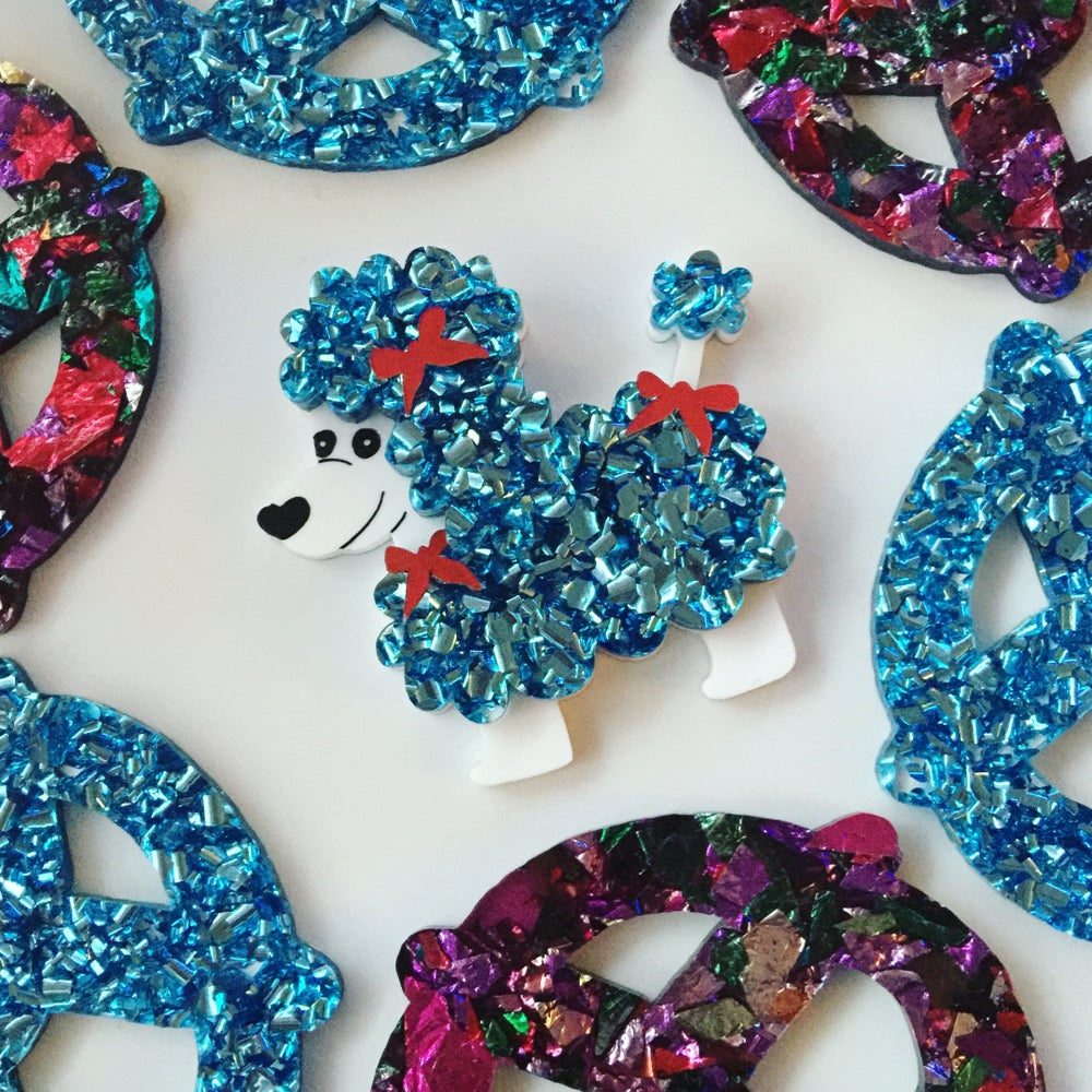Image of Disco Poodle Brooch