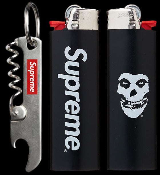 Image of 2013 Leatherman Micra Knife, Corkscrew Keychain & Misfits Bic Lighter