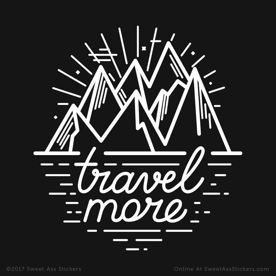 Image of Travel More Mountains Vinyl Sticker