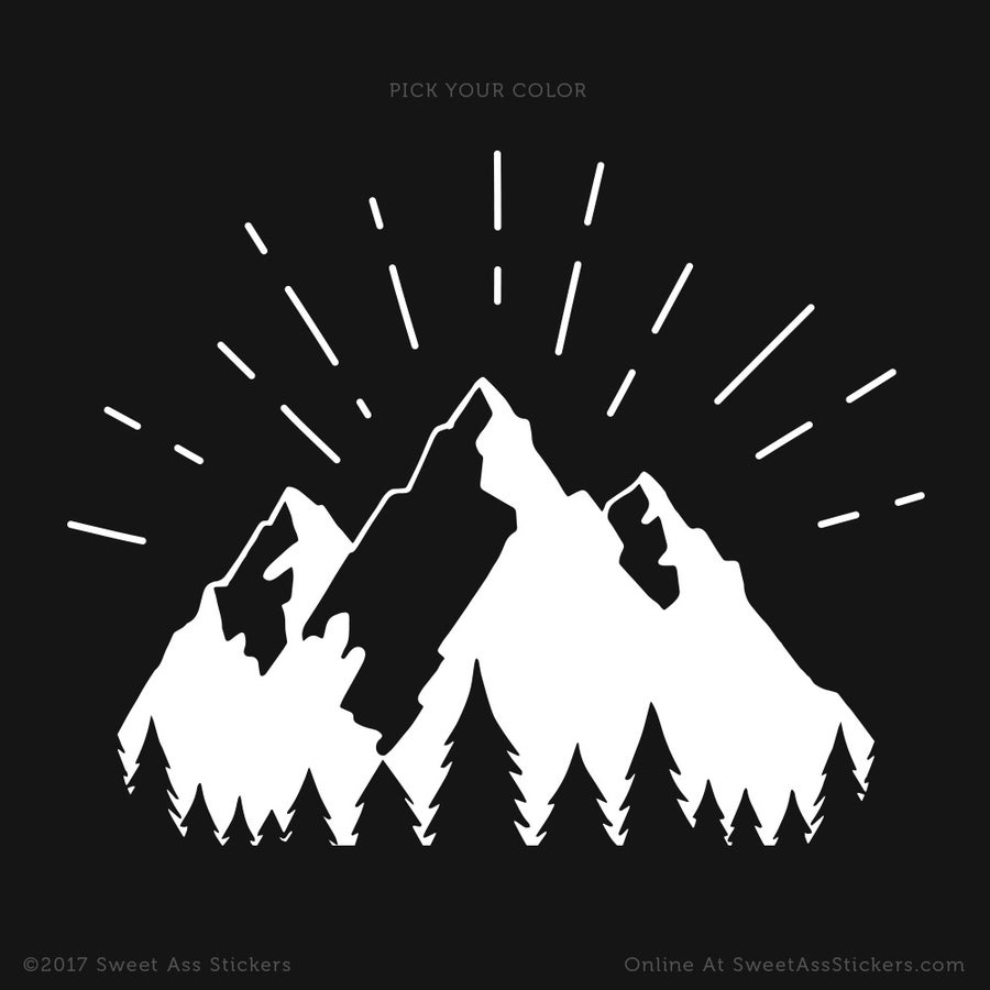 Image of The Mountain Glow Vinyl Sticker