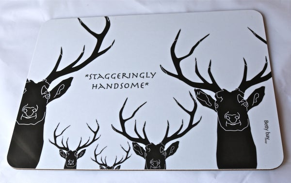 Image of Set of Four 'Staggeringly Handsome' Melamine Table mats