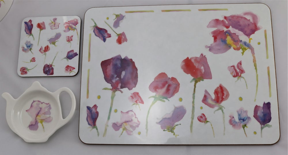 Image of Set of Four Sweet Pea Placemats