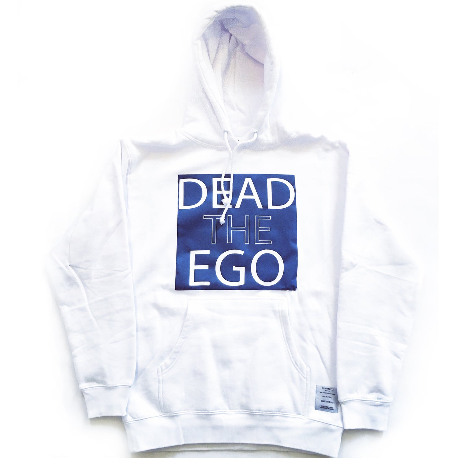 Image of KingNYC Dead The Ego Square Logo Hoodie
