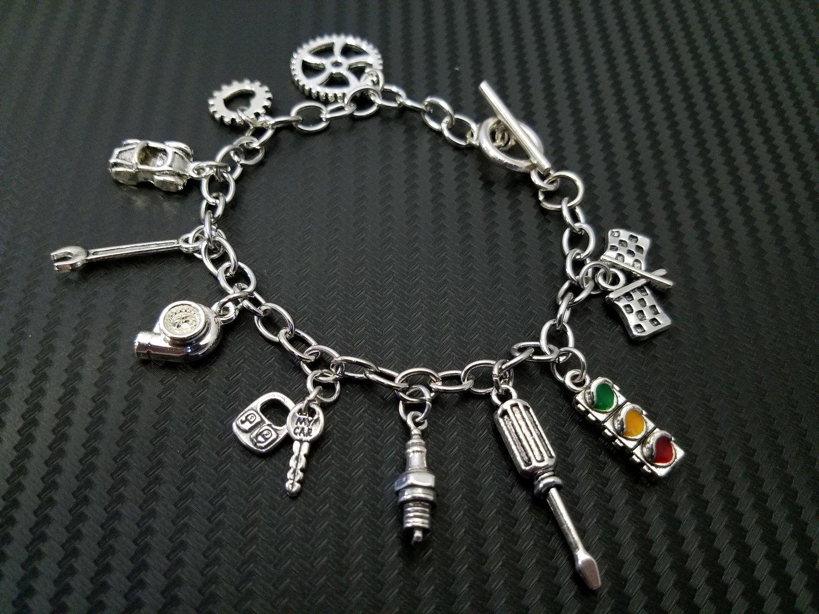 Car Part Charm Bracelets