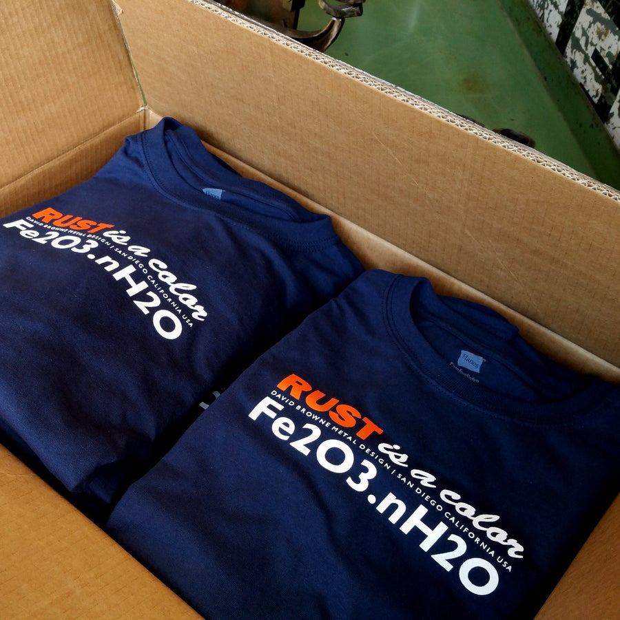 Image of *RUST IS A COLOR* Short Sleeve Navy tees