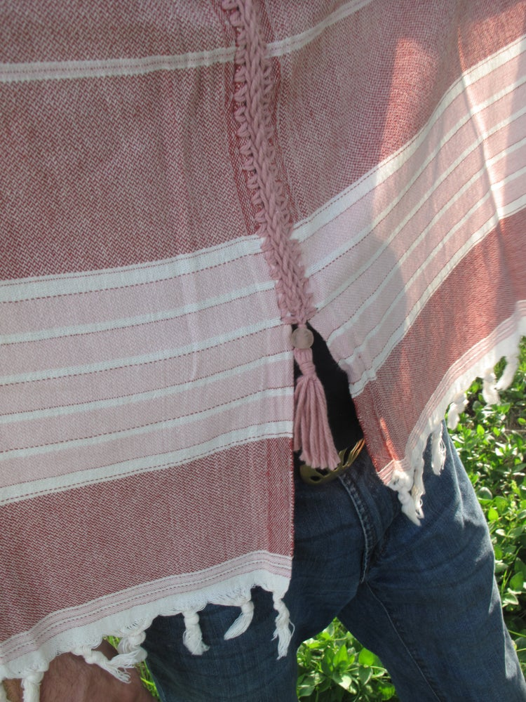 Image of Turkish Rose Cotton Poncho