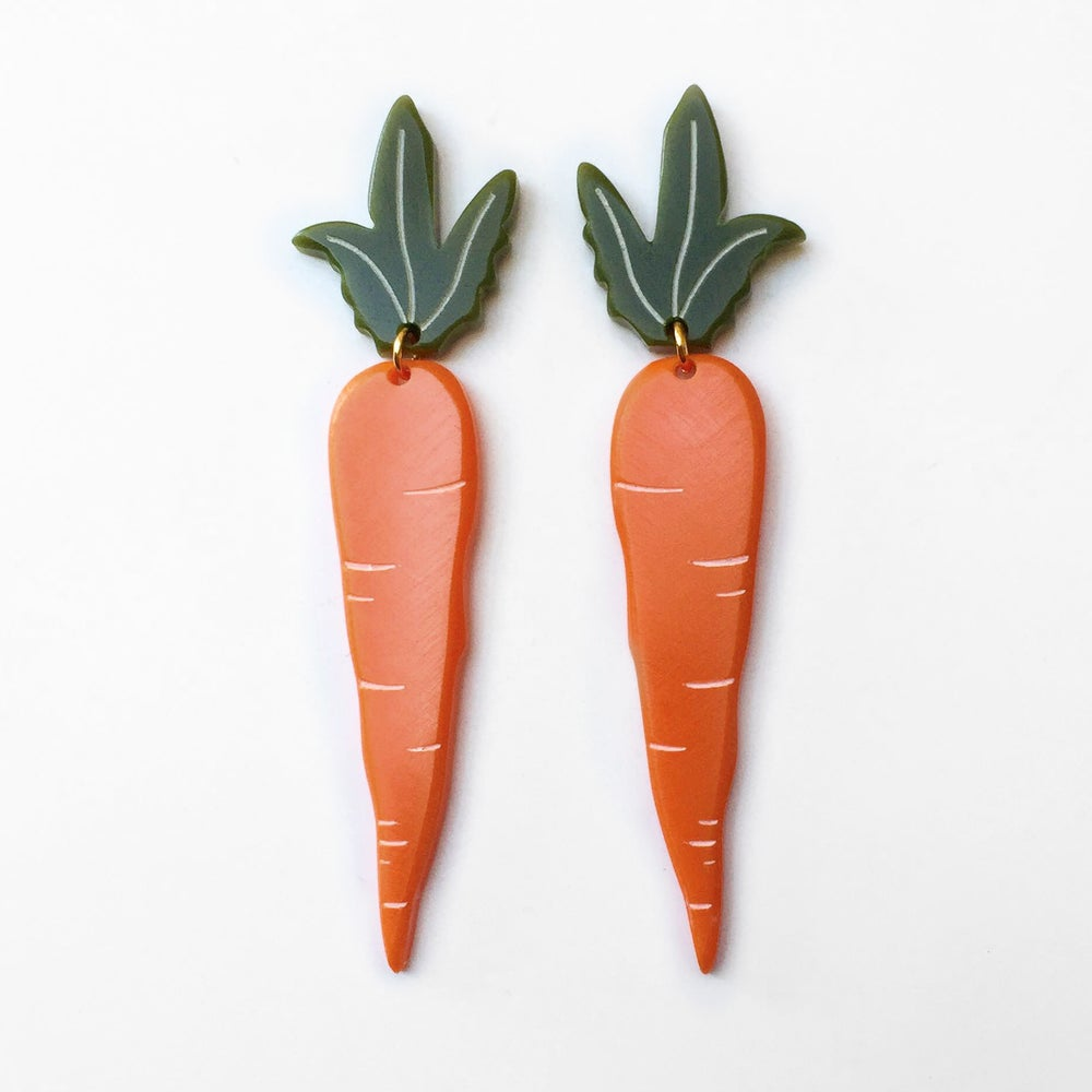 Image of Carrot Earrings