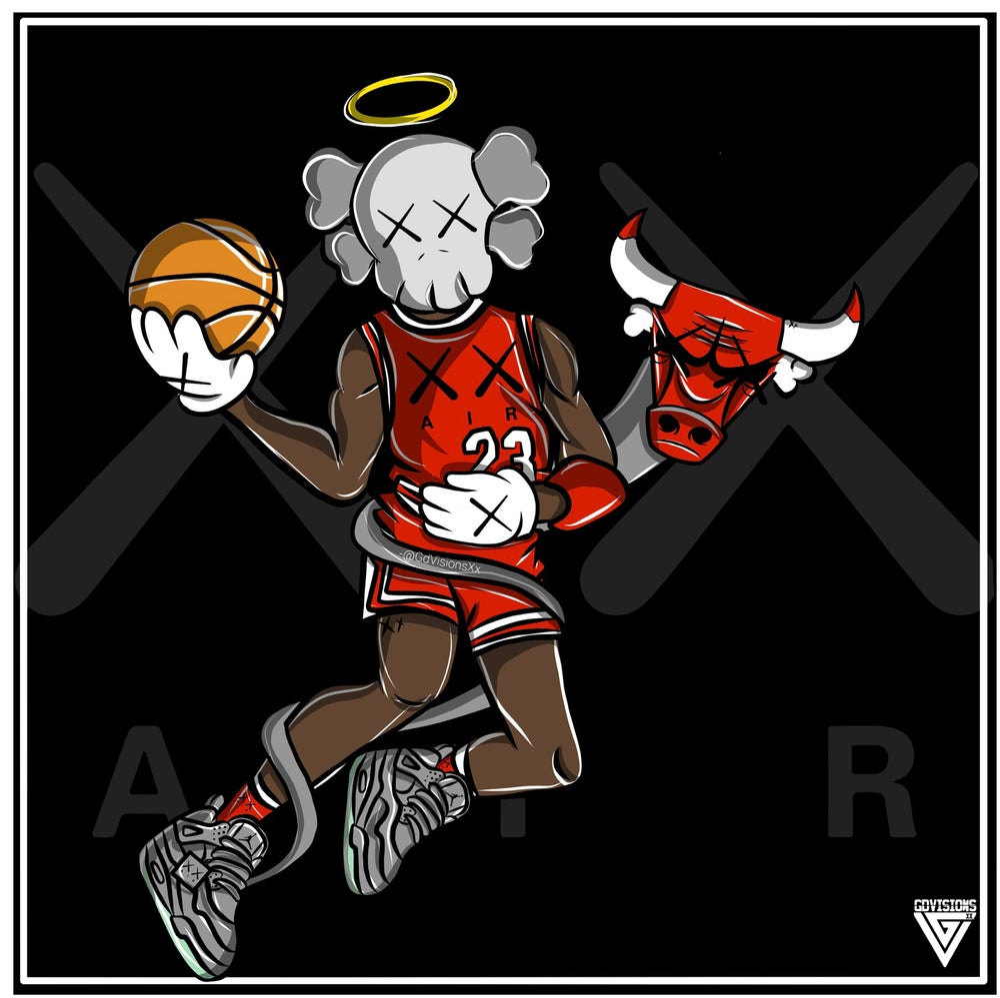 Jordan X Kaws Fan Art