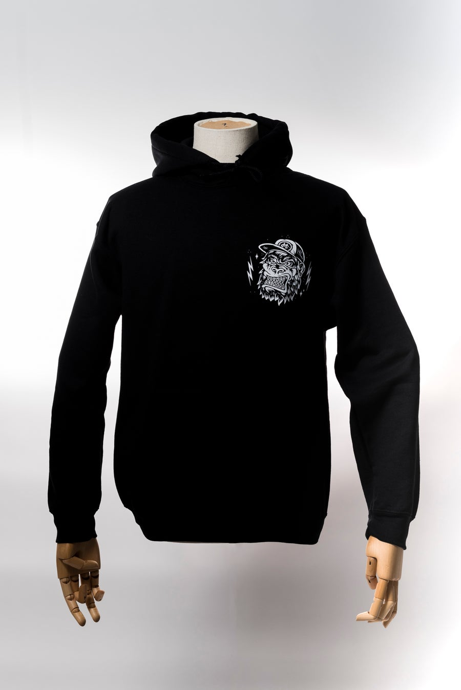 Image of Monkey Climber APE hoodie I Black - Burgundy - Heather Grey