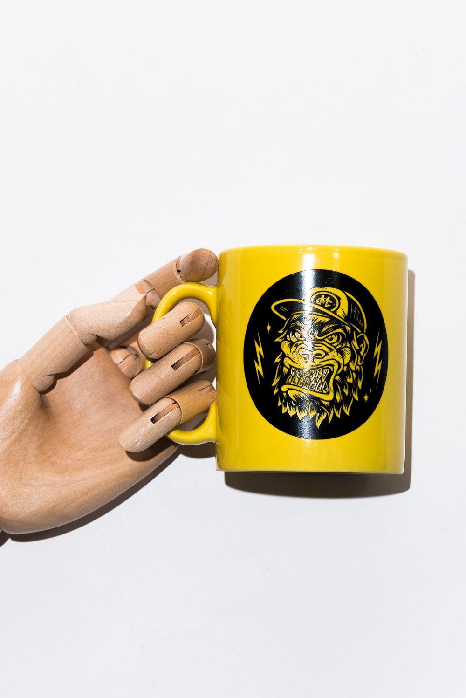Image of Monkey Climber APE mug I Yellow - Burgundy