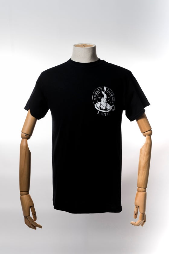 Image of Monkey Climber Keepers of the Faith shirt I Black - Burgundy