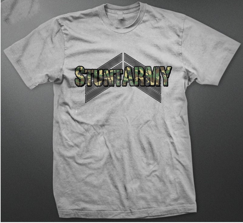 Image of StuntARMY Standard Issue T Grey Camo