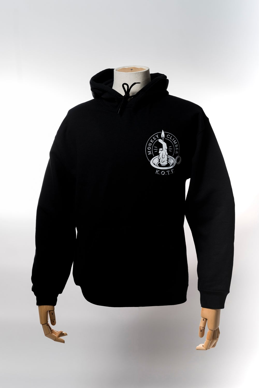 Image of Monkey Climber Keepers of the Faith hoodie I Black - Ash Grey