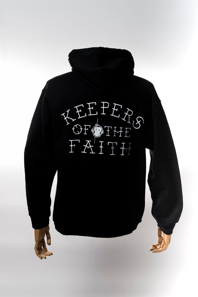 Image of Monkey Climber Keepers of the Faith hoodie I Black