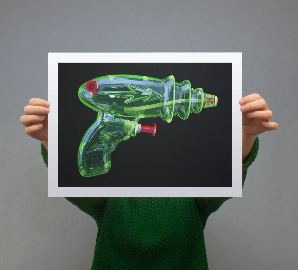 Image of 'Raygun' - Limited Edition Print - 42cm x 30cm